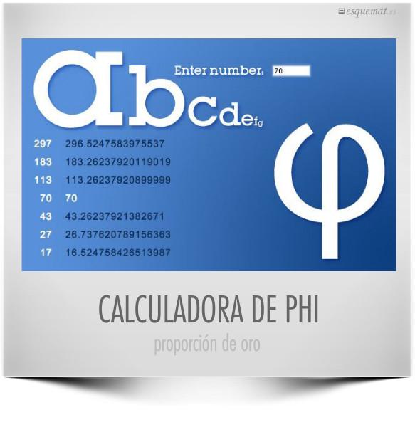 CALCULADORA DE PHI