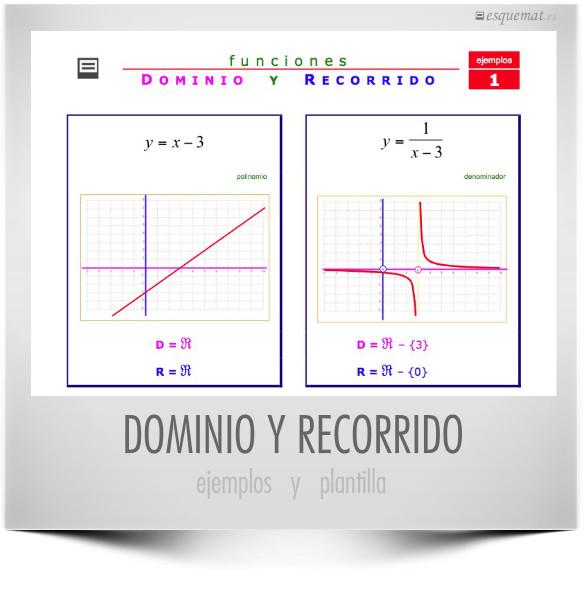 DOMINIO Y RECORRIDO