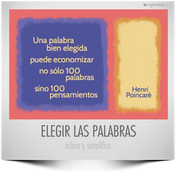 ELEGIR LAS PALABRAS