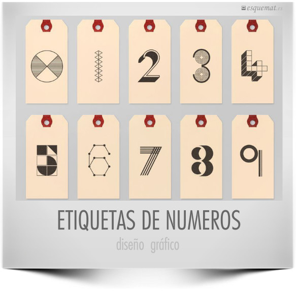 ETIQUETAS DE NUMEROS