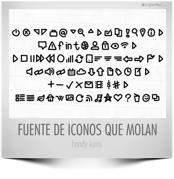 FUENTE DE ICONOS QUE MOLAN