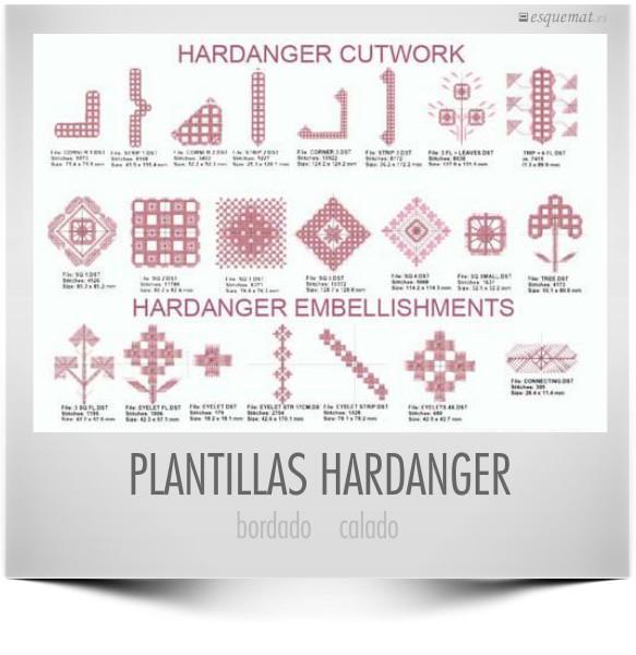 Plantillas de bordado y calado Hardanger | Esquemat