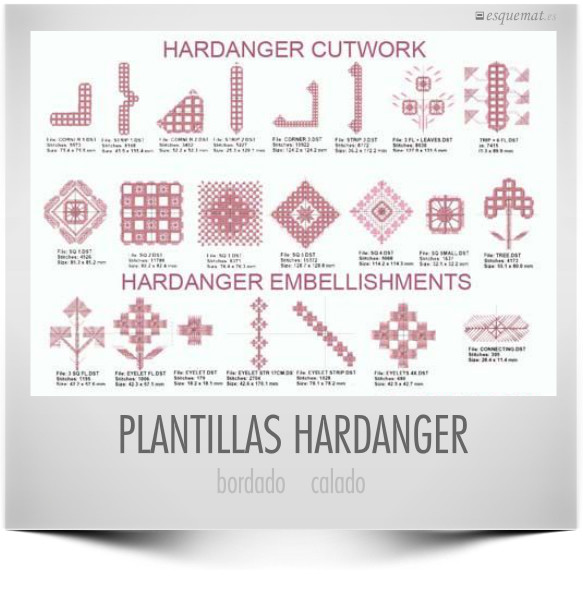 PLANTILLAS HARDANGER