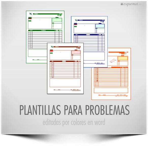 PLANTILLAS PARA PROBLEMAS