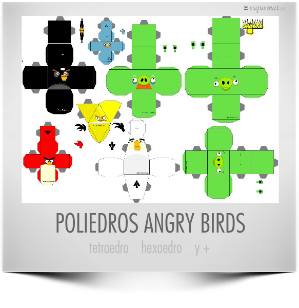 POLIEDROS ANGRY BIRDS