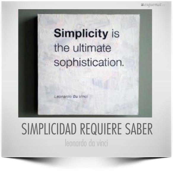 SIMPLICIDAD REQUIERE SABER